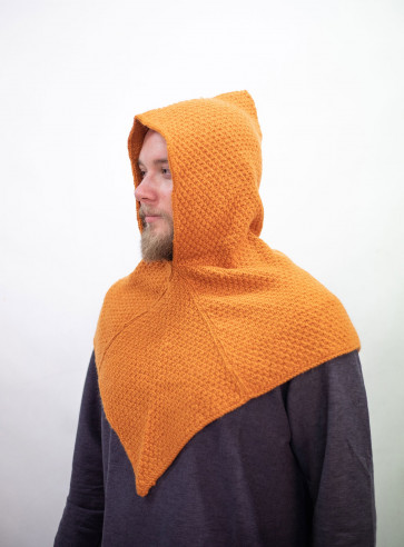 Knitted Wool Gugel Asbjorn - Orange