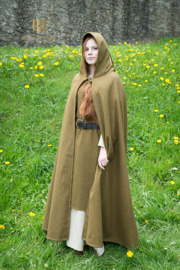 Wide Cloak Hibernus by Burgschneider fairytale-like in autumn green