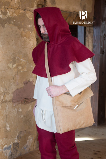 Middle Ages Shoulder Bag Ehwaz by Burgschneider in sand