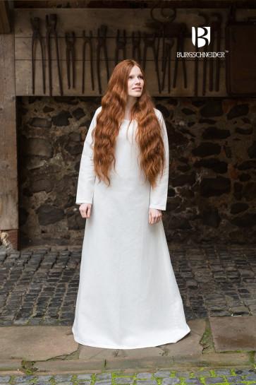 Authentic natural white linen underdress Frigga by Burgschneider
