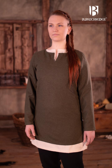 Short Wool Tunic Svenja - Olive
