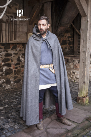 Hooded Cloak Hibernus - Wool Grey