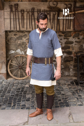 Short-Sleeve Tunic Aegir - Grey