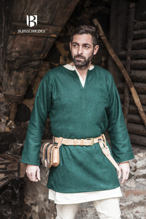 Green Wool Tunic Lodin by Burgschneider