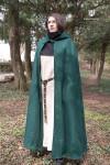 Hooded Cloak Hibernus - Wool Green